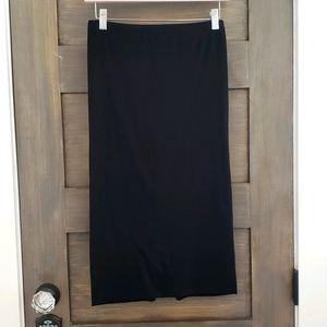 EXPRESS pencil skirt long exposed zipper sz S